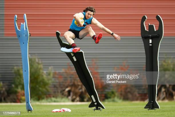 Andrew McGrath in action during an Essendon Bombers AFL training session at on May 19, 2020 in Melbourne, Australia.