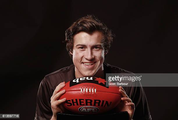 Andrew McGrath poses for a portrait during the 2016 AFL Draft Combine on October 6 2016 in Melbourne Australia