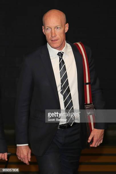Andrew McKay General Manager Football Operations at the Carlton Football Club arrives ahead of the AFL Tribunal Appeal Hearing into intentional...