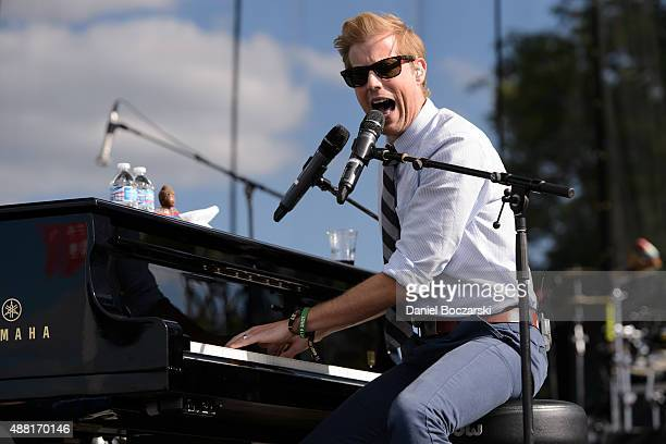 Andrew McMahon In the Wilderness perform during Riot Fest Chicago 2015 at Douglas Park on September 13 2015 in Chicago Illinois