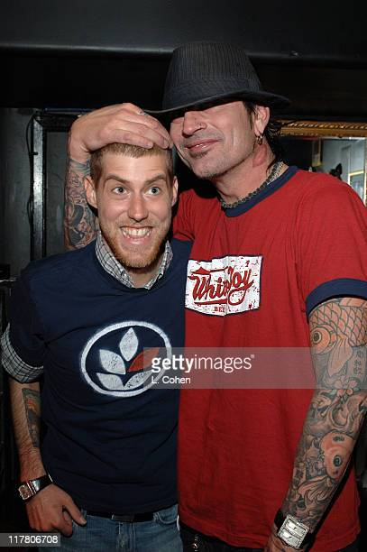 Andrew McMahon of Jack's Mannequin with Tommy Lee during Jack's Mannequin in Concert at the Viper Room in Hollywood January 25 2006 at Viper Room in...