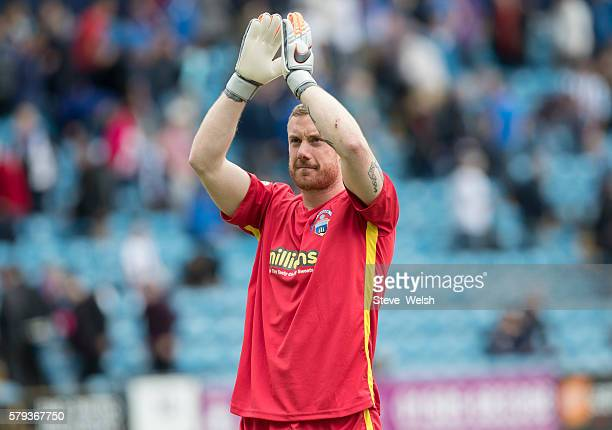 Andrew McNeil of Greenock Morton during the Betfred Cup First Round between Kilmarnock Football Club and Morton at Rugby Park on July 23 2016 in...
