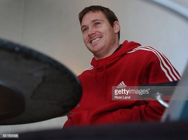 Andrew Mehrtens speaks at a media session in Cardiff where the All Blacks are preparing to play a test against Wales at the Millennium Stadium...