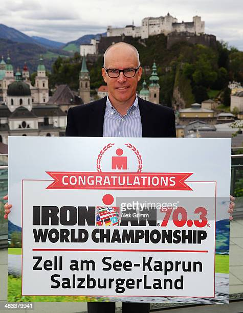 Andrew Messick Chief Executive Officer of IRONMAN poses after the 2015 IRONMAN 703 World Championships announcement press conference on April 8 2014...