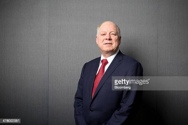 Andrew Michelmore chief executive officer of Minmetals Resources Ltd and MMG Ltd poses for a photograph prior to a Bloomberg Television interview in...