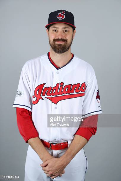 Andrew Miller of the Cleveland Indians poses during Photo Day on Wednesday February 21 2018 at Goodyear Ballpark in Goodyear Arizona