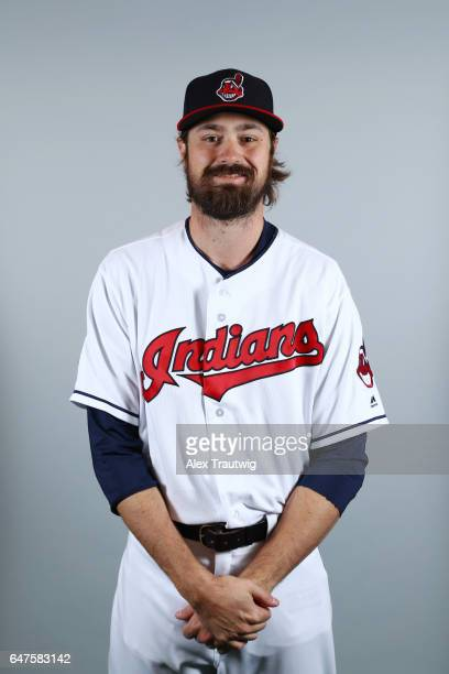 Andrew Miller of the Cleveland Indians poses during Photo Day on Friday February 24 2017 at Goodyear Ballpark in Goodyear Arizona