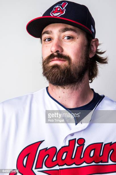 Andrew Miller of the Cleveland Indians poses for a portrait during Indians Photo Day at the Goodyear Sports Complex on February 24 2017 in Goodyear...