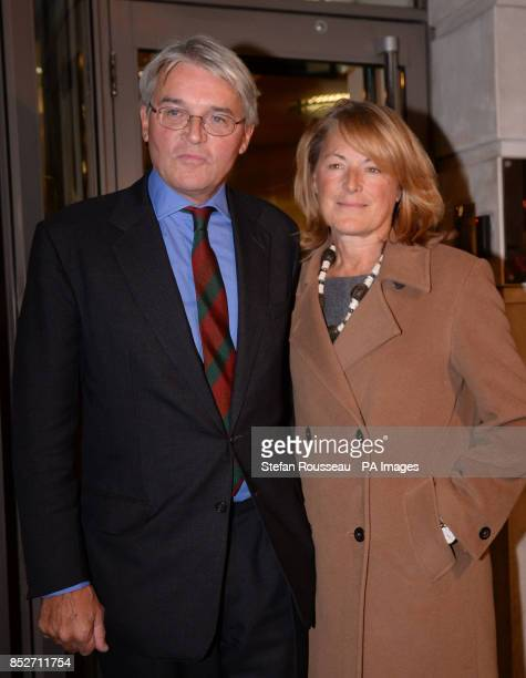 Andrew Mitchell and his wife Dr Sharon Bennett leave a press conference in London, where he gave his reaction to the Crown Prosecution Service...