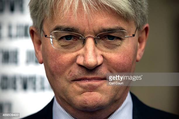 Andrew Mitchell arrives at the High Court on November 24 2014 in London England Former cabinet minister Andrew Mitchell is suing News Group...