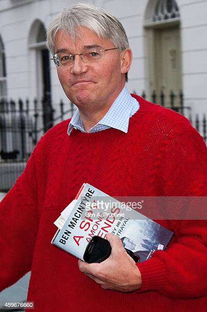 Andrew Mitchell departs his London home on November 28 2014 in London England A judge ruled yesterday that Andrew Mitchell probably did call police...
