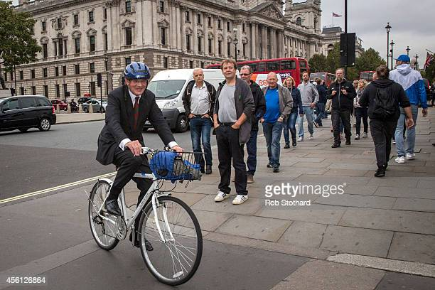 Andrew Mitchell MP arrives at The Houses of Parliament on September 26 2014 in London England MPs will vote later today on whether the UK should join...