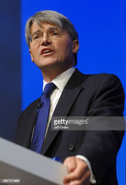 Andrew Mitchell shadow International Development secretary addresses the Conservative Party conference held at the Winter Gardens in Blackpool...