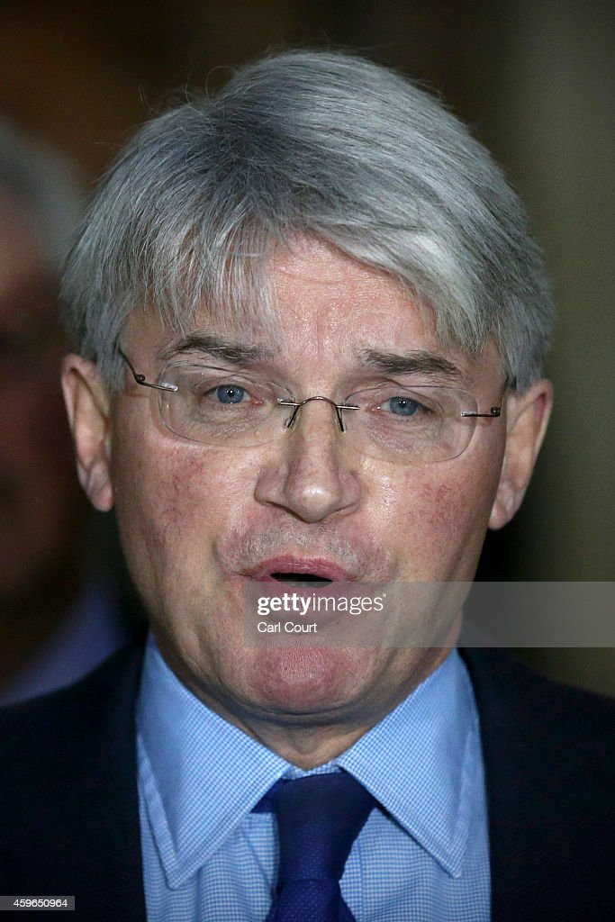 Andrew Mitchell speaks to the media outside the High Court on November 27, 2014 in London, England. A judge has ruled that Andrew Mitchell probably did call police officers 'plebs', as he ruled against the Tory MP in a High Court libel action.