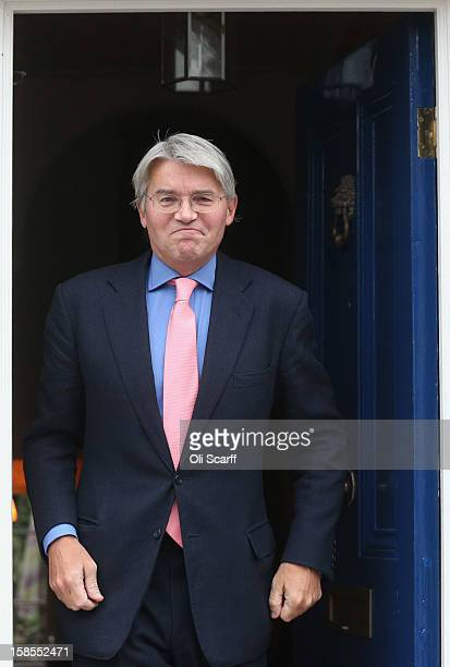 Andrew Mitchell the former government chief whip leaves his home on December 19 2012 in London England Mr Mitchell has called for an inquiry into...