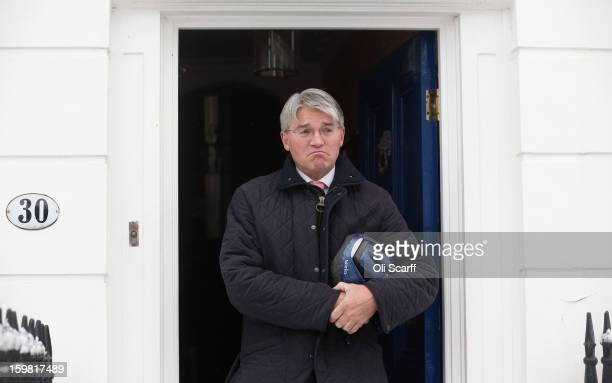 Andrew Mitchell the former government chief whip leaves his home on January 21 2013 in London England Cabinet Secretary Sir Jeremy Heywood has been...