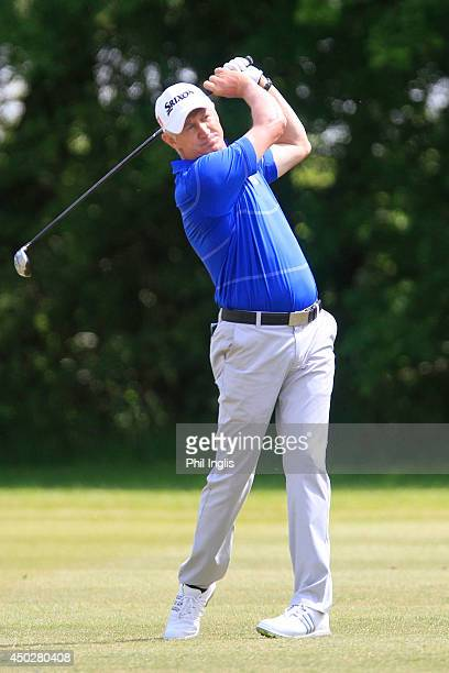Andrew Murray of England in action during the final round of the ISPS Handa PGA Seniors Championship played at Stoke by Nayland Hotel Golf and Spa on...