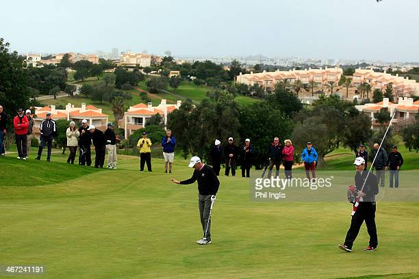 Andrew Murray of England in action during the final round of the European Senior Tour Qualifying School Finals played at Vale da Pinta Pestana Golf...