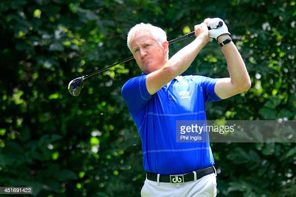 Andrew Murray of England in action during the first round of the Bad Ragaz PGA Seniors Open played at Golf Club Bad Ragaz on July 4 2014 in Bad Ragaz...
