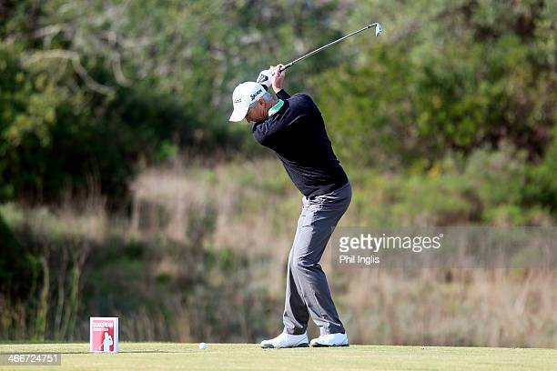 Andrew Murray of England in action during the first round of the European Senior Tour Qualifying School Finals played at Vale da Pinta Pestana Golf...