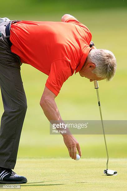 Andrew Murray of England in action during the third round of the ISPS Handa PGA Seniors Championship played at Stoke by Nayland Hotel Golf Spa on...