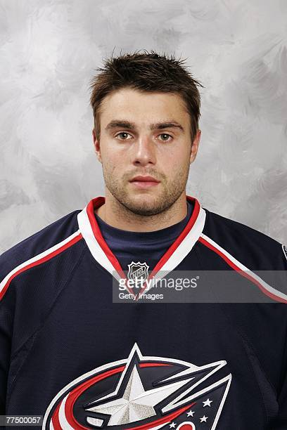 Andrew Murray of the Columbus Blue Jackets poses for his 2007 NHL headshot at photo day in Columbus Ohio