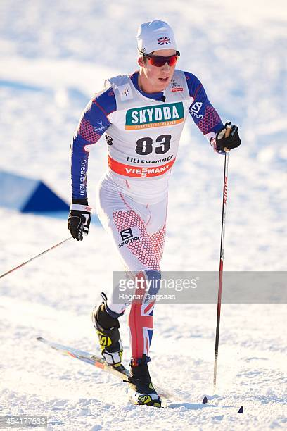Andrew Musgrave of Great Britain competes during the FIS CrossCountry World Cup Men's 15km Classic on December 7 2013 in Lillehammer Norway