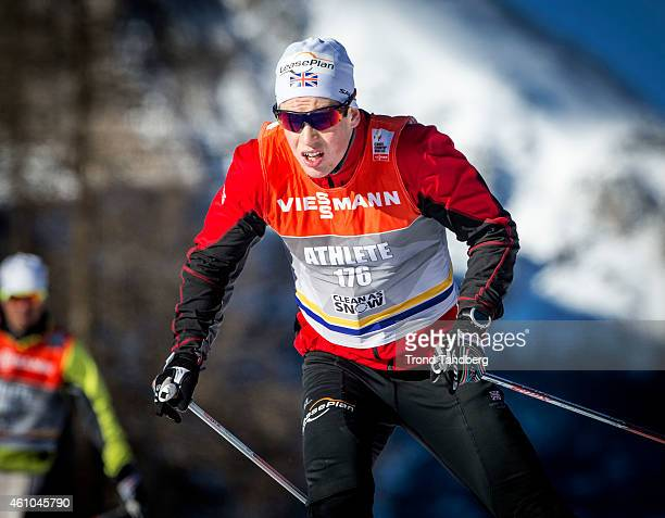 Andrew Musgrave of Great Britain during training Tour de Ski on January 5 2015 in Mustair Switzerland