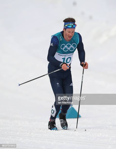 Andrew Musgrave of United Kingdom is seen during the Men's 50km Mass Start Classic at Alpensia CrossCountry Centre on February 24 2018 in...