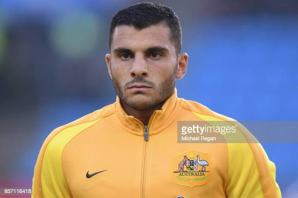 Andrew Nabbout of Australia in action during the International Friendly match between Norway and Australia at Ullevaal Stadion on March 23 2018 in...