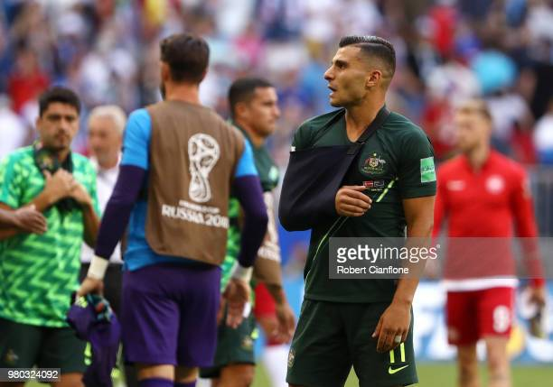 Andrew Nabbout of Australia looks on after the 2018 FIFA World Cup Russia group C match between Denmark and Australia at Samara Arena on June 21 2018...