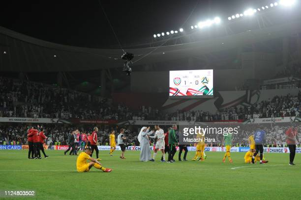 Andrew Nabbout of Australia looks on after the AFC Asian Cup quarter final match between United Arab Emirates and Australia at Hazza Bin Zayed...