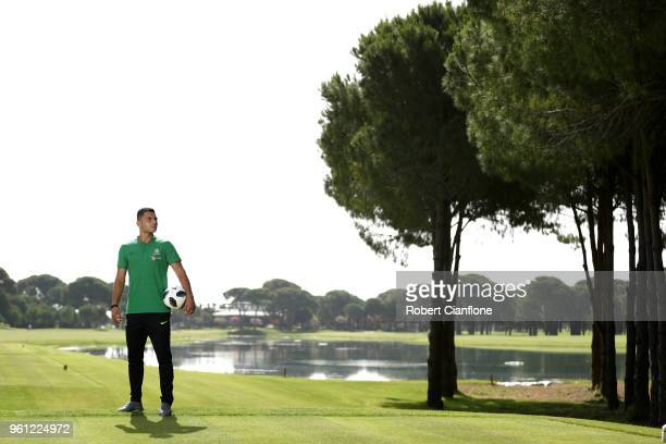 Andrew Nabbout of Australia poses during the Australian Socceroos Media Opportunity at the Gloria Football Club on May 22 2018 in Antalya Turkey