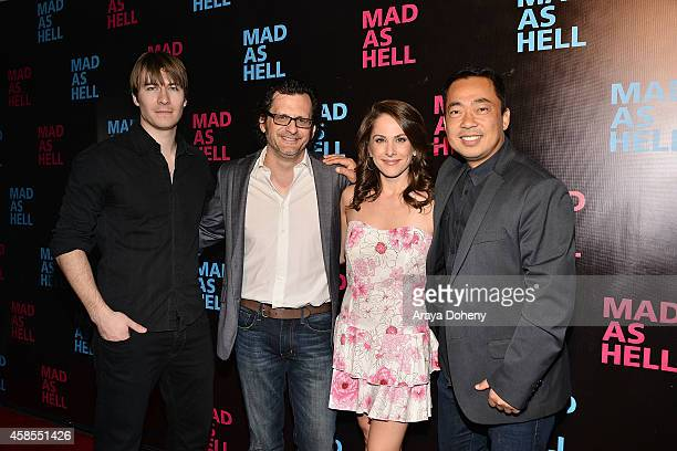 Andrew Napier Ben Mankiewcz Ana Kasparian and Steven Oh attend the The Young Turks Documentary 'Mad as Hell' Los Angeles Premiere at Harmony Gold...