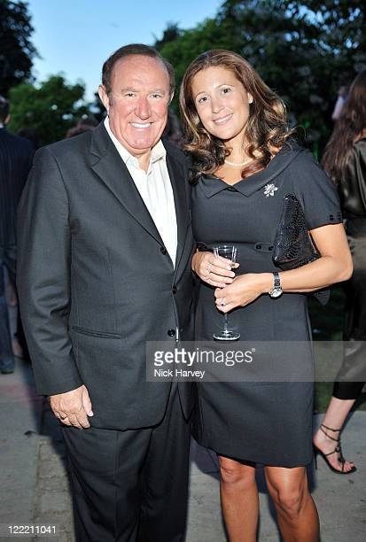 Andrew Neil and guest attend the annual Serpentine Gallery summer party at The Serpentine Gallery on July 8 2010 in London England