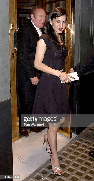 Andrew Neil and Guest during Celebrity Sightings at The Ivy June 9 2006 at Ivy in London Great Britain
