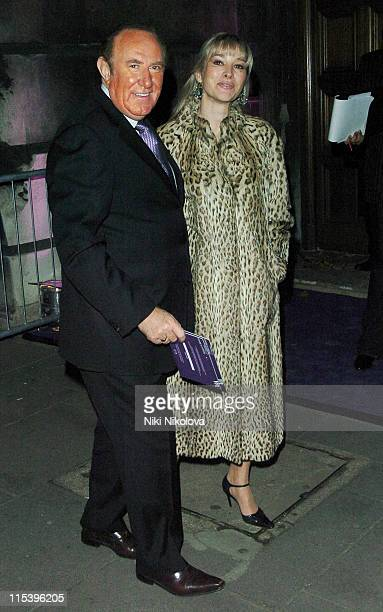 Andrew Neil and Guest during Ozwald Boateng 20th Anniversary Celebration at Victoria Albert Museum in London Great Britain