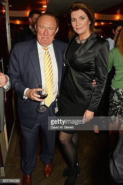 Andrew Neil and Julia HartleyBrewer attend as The Spectator's lifestyle magazine celebrates its fourth birthday at the Belgraves Hotel on April 20...