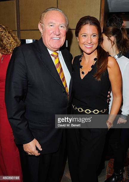 Andrew Neil and Susan Nilsson attend the launch of Kelly Hoppen MBE's new book Design Masterclass at Belgraves Hotel on November 18 2013 in London...