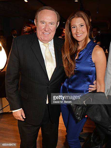Andrew Neil and Susan Nilsson attend the launch of YOO Home at Harrods on June 11 2014 in London England