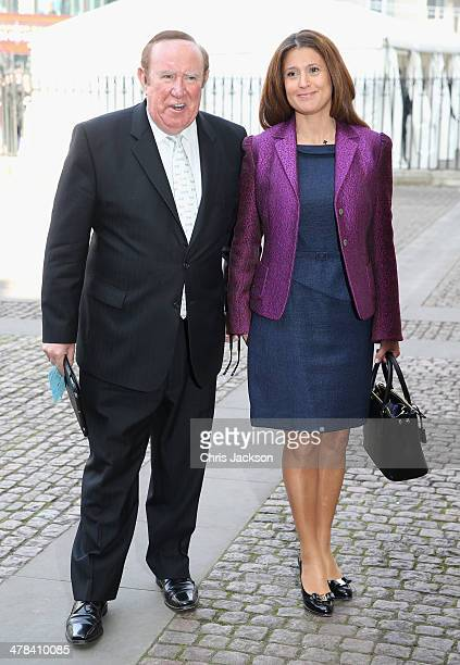 Andrew Neil attends a memorial service for Sir David Frost at Westminster Abbey on March 13 2014 in London England