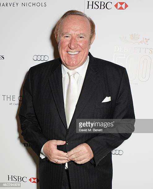 Andrew Neil attends Debrett's 500 party hosted at The Club at Cafe Royal on January 26 2015 in London England The Debrett's 500 recognise the most...