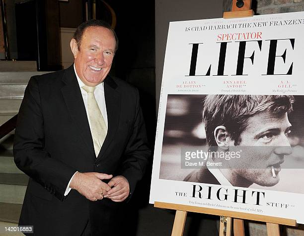 Andrew Neil attends the launch of Spectator Life a new quarterly lifestyle magazine from The Spectator at Asprey London on March 28 2012 in London...