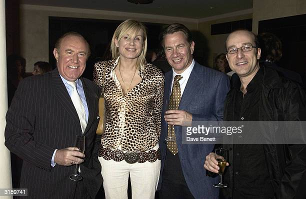 Andrew Neil Claire Michael Portillo and Paul Mckenna attend the Tatler dinner at Floriana at the Beauchamp place on March 19 2003