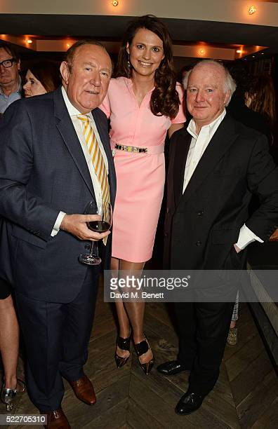 Andrew Neil Olivia Cole and guest attend as The Spectator's lifestyle magazine celebrates its fourth birthday at the Belgraves Hotel on April 20 2016...