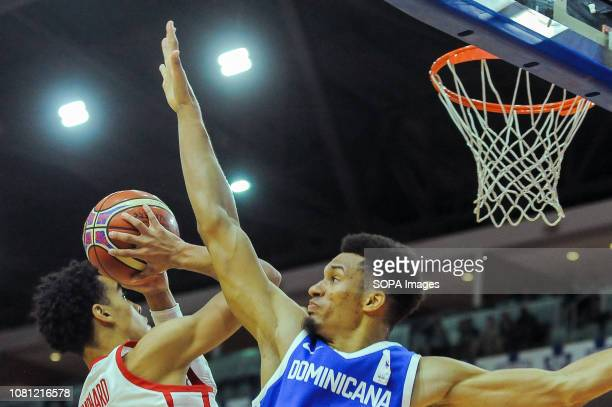 Andrew Nembhard seen in action during the Canada national team vs Dominican Republic national team in the FIBA Basketball World Cup 2019 Qualifiers...