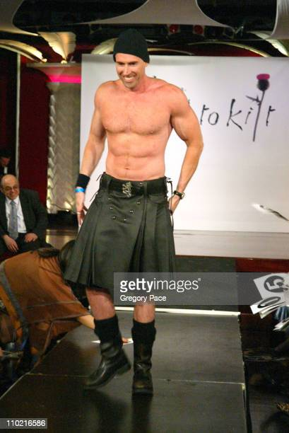 Andrew Ness during Dressed to Kilt A Scottish Evening of Fashion and Fun Runway at Copacabana in New York City New York United States