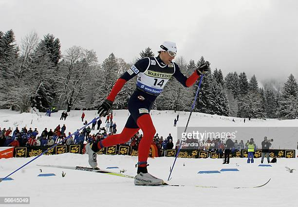 Andrew Newell of the USA competes during the men's 12 km sprint of the Cross Country World Cup on January 22 2006 in Oberstdorf Germany
