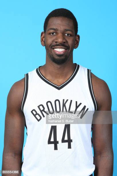 Andrew Nicholson of the Brooklyn Nets poses for a head shot on March 17 2017 at Barclays Center in Brooklyn New York NOTE TO USER User expressly...