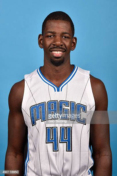 Andrew Nicholson of the Orlando Magic poses for a headshot during NBA Media Day on September 25 2015 at Amway Center in Orlando Florida NOTE TO USER...